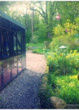The gardens at  Copperfield Cattery in Inverness