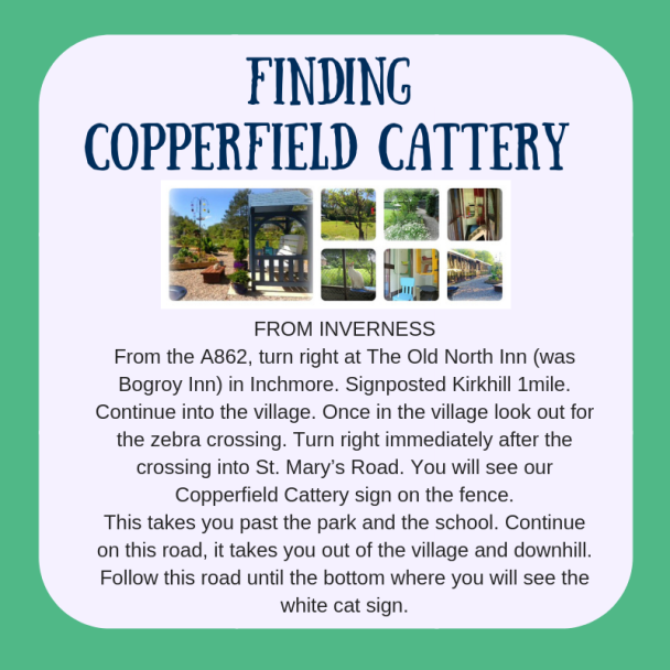 Directions to Copperfield Cattery INVERNESS