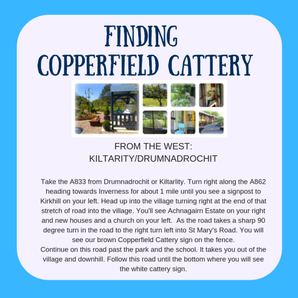 Directions to Copperfield Cattery